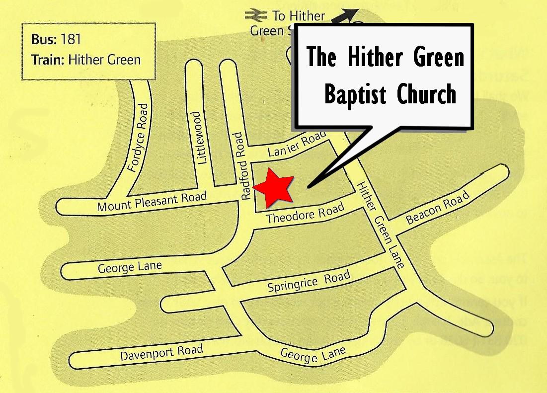 HG Baptist Church Map