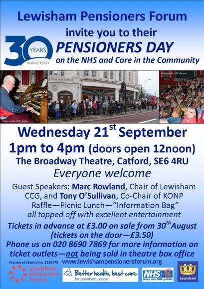 Lewisham Pensioners DAy 2016